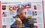 Cesars Way Magazine Feb 2012 Product Showcase Features Pure Mutt Dog Tank!